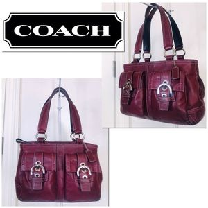 Coach Soho Oxblood Double Pocket Satchel Carryall